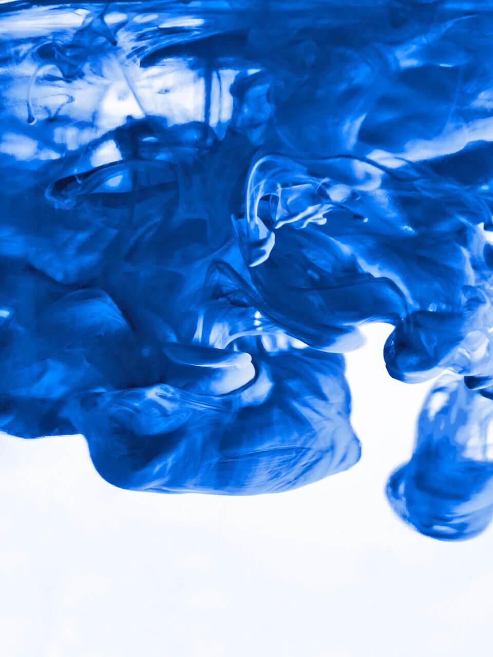 Swirling Blue Dye